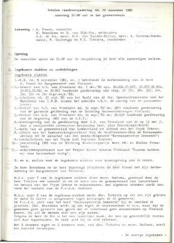Raadsnotulen 1982