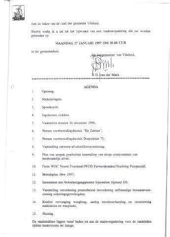 Raadsnotulen 1997