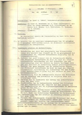 Raadsnotulen 1960