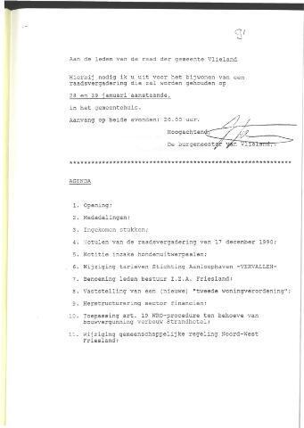 Raadsnotulen 1991