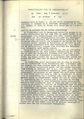 Raadsnotulen 1951