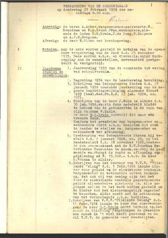 Raadsnotulen 1956