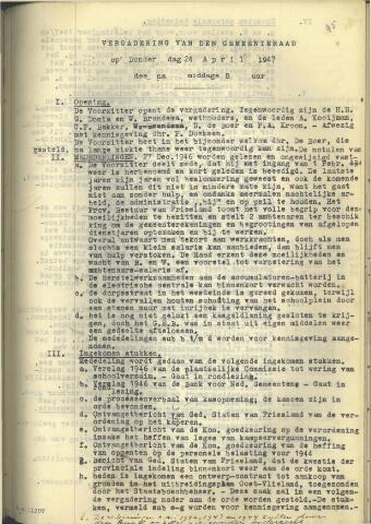 Raadsnotulen 1947