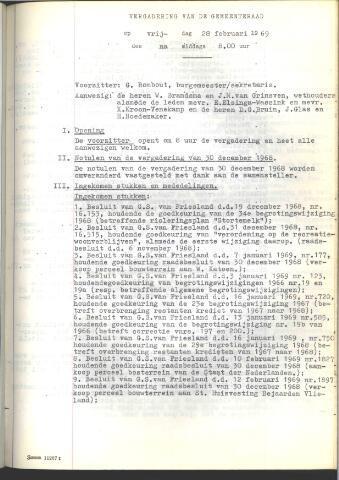 Raadsnotulen 1969