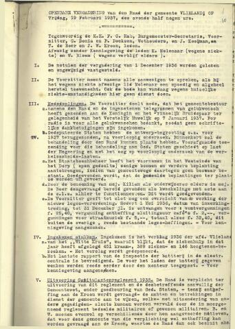 Raadsnotulen 1937