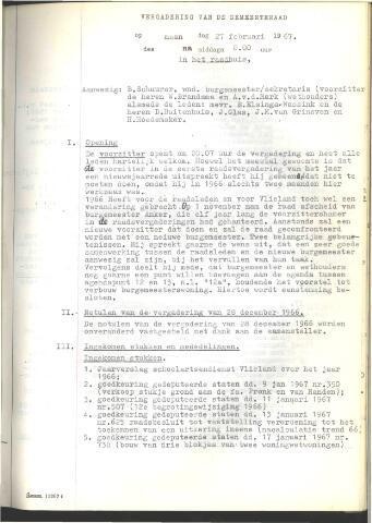 Raadsnotulen 1967