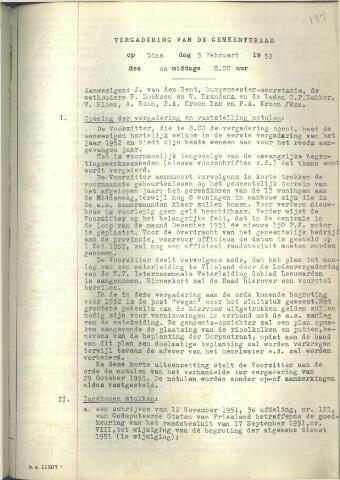Raadsnotulen 1952