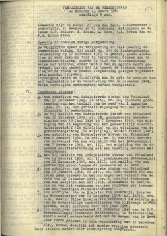 Raadsnotulen 1950