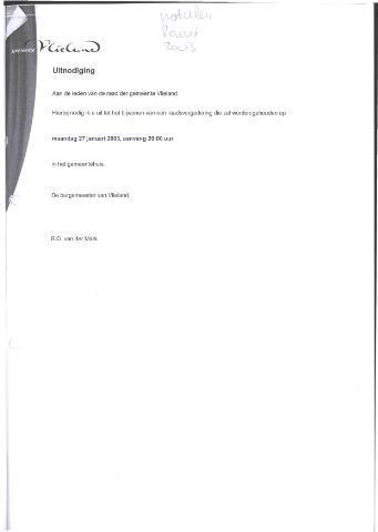 Raadsnotulen 2003