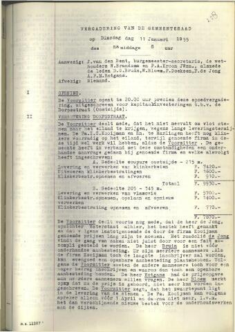 Raadsnotulen 1955