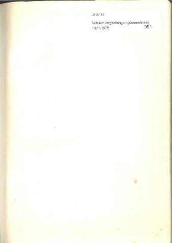 Raadsnotulen 1971