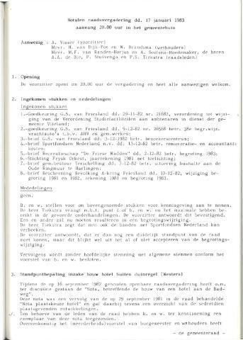 Raadsnotulen 1983