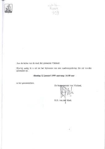 Raadsnotulen 1999