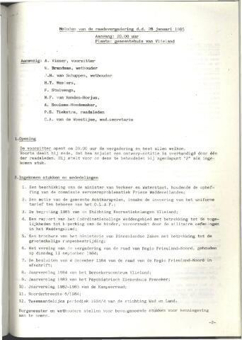 Raadsnotulen 1985