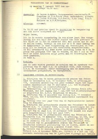 Raadsnotulen 1957