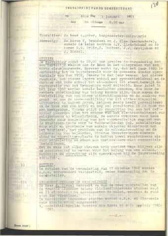 Raadsnotulen 1961