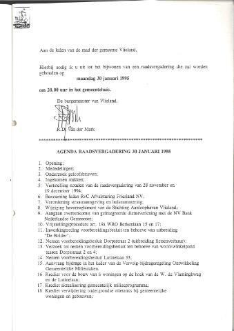 Raadsnotulen 1995