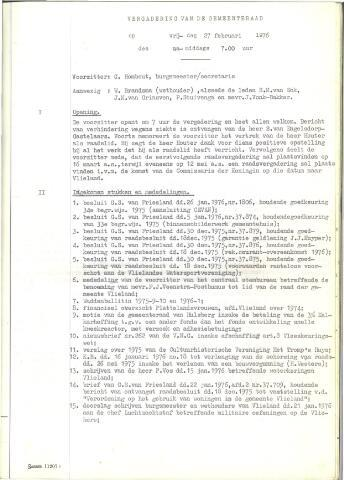 Raadsnotulen 1976