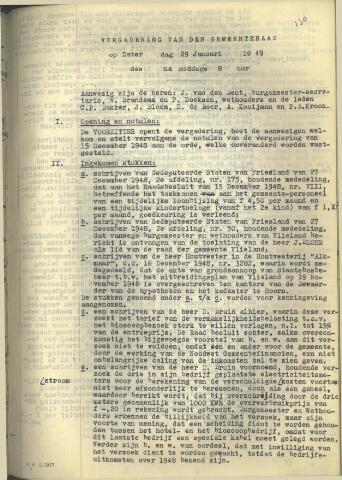 Raadsnotulen 1949
