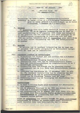 Raadsnotulen 1963