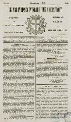 Arrondissementsbode van Amersfoort 1849-05-01
