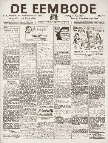 De Eembode 1928-01-13