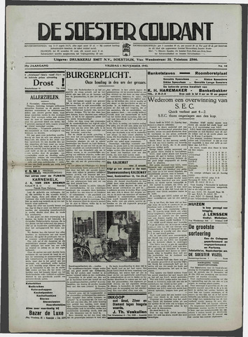 Soester Courant 1940-11-01