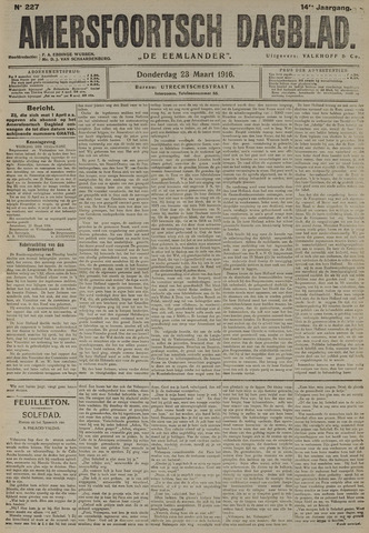 Amersfoortsch Dagblad / De Eemlander 1916-03-23