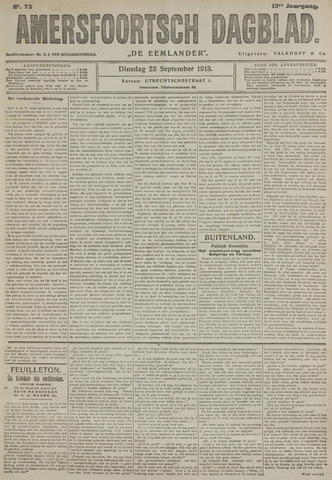 Amersfoortsch Dagblad / De Eemlander 1913-09-23