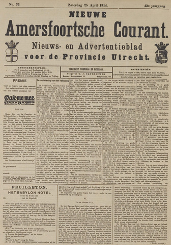 Nieuwe Amersfoortsche Courant 1914-04-25