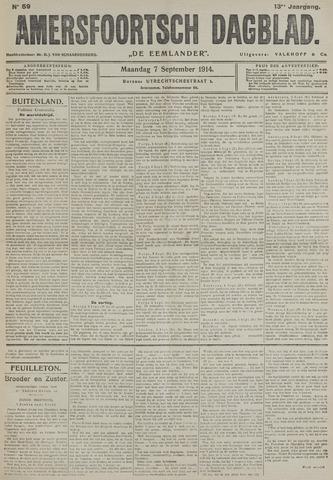 Amersfoortsch Dagblad / De Eemlander 1914-09-07