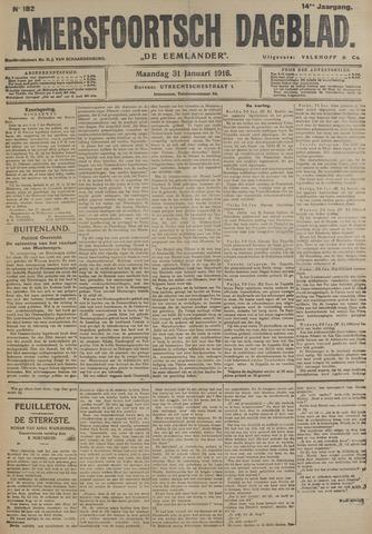 Amersfoortsch Dagblad / De Eemlander 1916-01-31