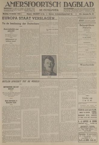 Amersfoortsch Dagblad / De Eemlander 1933-10-16