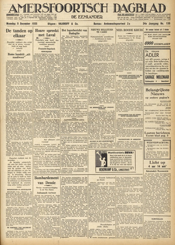 Amersfoortsch Dagblad / De Eemlander 1935-12-09