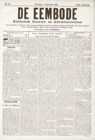 De Eembode 1891-09-05