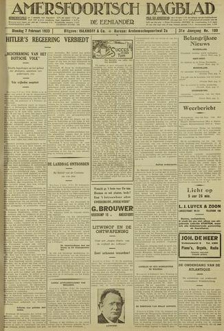 Amersfoortsch Dagblad / De Eemlander 1933-02-07