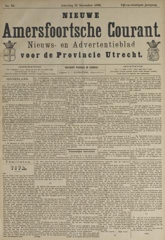 Nieuwe Amersfoortsche Courant 1896-11-21