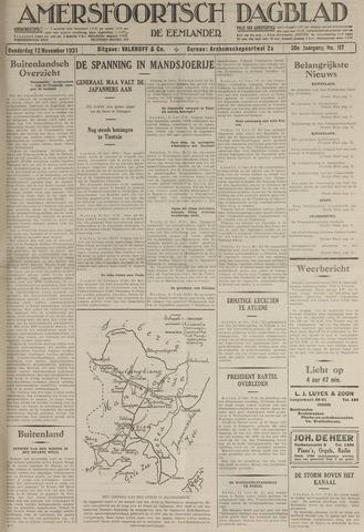 Amersfoortsch Dagblad / De Eemlander 1931-11-12