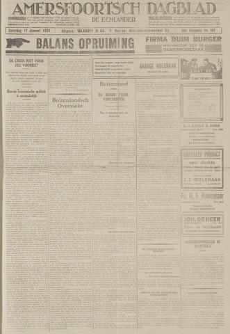 Amersfoortsch Dagblad / De Eemlander 1931-01-17