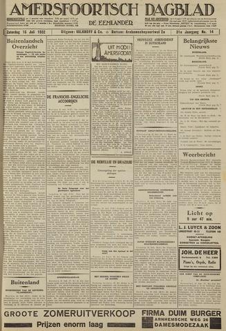 Amersfoortsch Dagblad / De Eemlander 1932-07-16