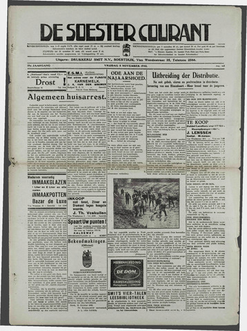 Soester Courant 1940-11-08