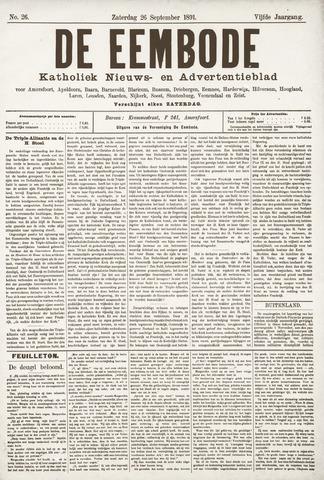 De Eembode 1891-09-26