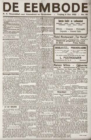 De Eembode 1922-10-06