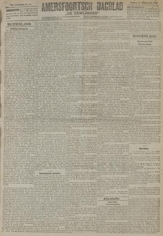 Amersfoortsch Dagblad / De Eemlander 1919-09-12