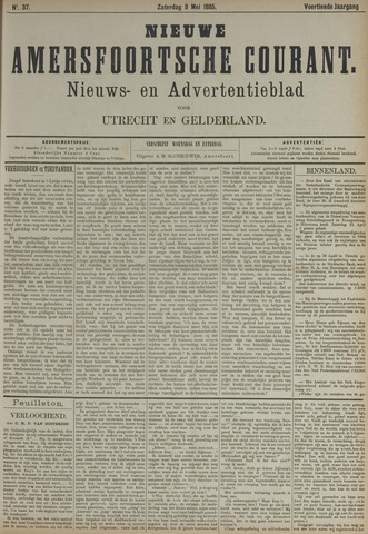 Nieuwe Amersfoortsche Courant 1885-05-09