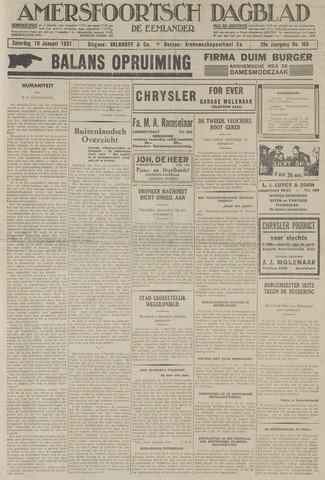 Amersfoortsch Dagblad / De Eemlander 1931-01-10