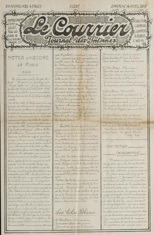 Le Courrier 1918-04-14