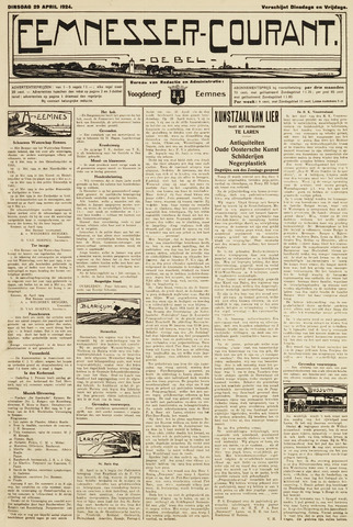 Eemnesser Courant 1924-04-29