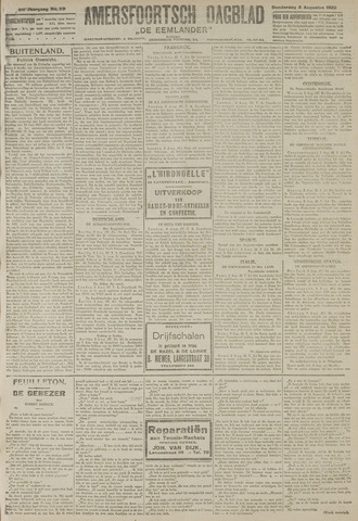 Amersfoortsch Dagblad / De Eemlander 1922-08-03