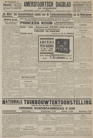 Amersfoortsch Dagblad / De Eemlander 1926-08-17
